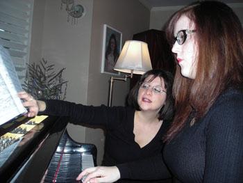 Heidi & student at the piano