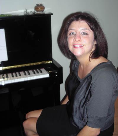 Heidi at the piano