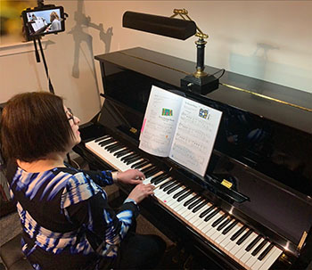 Heidi & student online piano lessons